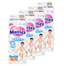 Купить <b>подгузники Merries XL</b> (<b>12-20 кг</b>) 176 шт (4 уп х 44 шт) в ...