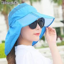 <b>XdanqinX</b> Foldable Ultra thin Beach <b>Hat</b> Summer Wide Sun Visor ...