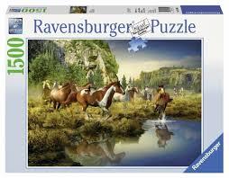 Купить <b>Пазл Ravensburger</b> Дикие <b>лошади</b> (16304), 1500 дет. по ...