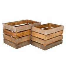Wood <b>Storage Crate Set</b> | Hobby Lobby | 1296276