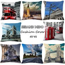 london triumphal arch bridge red phone booth bus one side printing home decor sofa car seat ch177 natural side chair walnut ash