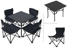 <b>Outdoor Folding Table</b> And Chair Set, Portable Folding Light Table ...