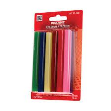 <b>Клеевые стержни</b>, диаметр 11 мм, цветные, <b>REXANT</b>, комплект ...