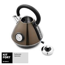 <b>Kitfort KT</b>-<b>644</b>-<b>2</b>, бронзовый/черный купить в Москве — <b>Чайник</b> ...