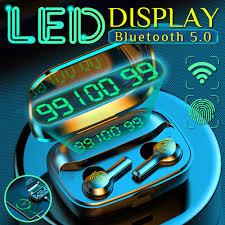 <b>R3 TWS Wireless</b> Bluetooth Earphone Headphones Tap Control ...