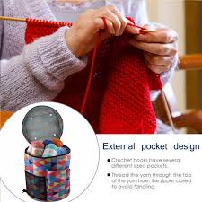 Online Shop <b>Yarn Storage</b> Tote Knitting Bag Light Travel Yarn ...