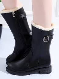 Buy platform heel <b>leather</b> mid calf boots online, with incredible ...