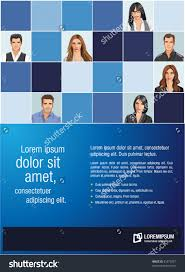 blue template advertising brochure business people stock vector blue template for advertising brochure business people