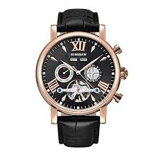 <b>BINSSAW Men</b> Tourbillon <b>Automatic</b> Mechanical Watch Luxury ...