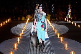 Prada's <b>Fall 2019</b> Collection Had Tough-Girl <b>Combat</b> Boots, Crystal ...
