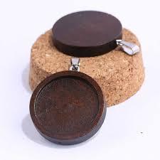 onwear <b>5pcs</b> 25mm round wood cabochon <b>keychain base</b> settings ...