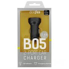 <b>Автомобильное зарядное устройство</b> Dotfes B05L <b>2xUSB</b>, 3.4A + ...