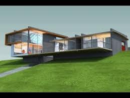 Modern Sloping Lot House Design   YouTube