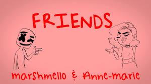 Marshmello & Anne-Marie - <b>FRIENDS</b> (Lyric Video) *OFFICIAL ...