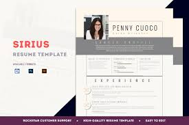 resume template sirius resume templates on creative market