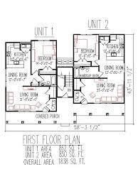 Triplex House Floor Plans Designs Handicap Accessible Home SFDuplex Floor Plans Sq Ft Unit Floors Bedroom Handicap Accessible Indianapolis Ft