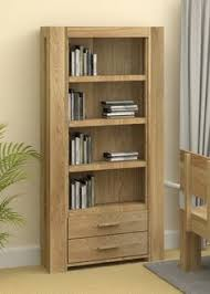 our atlas oak open bookcase with drawers has contemporary solid lines and would sit perfectly in the living room or home office atlas oak hidden home