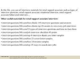 top retail support associate interview questions and answers