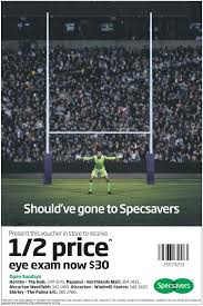 the cup continues to runneth over as fcb and prime beat out fierce specsavers also got in on the rugby act another clever creative execution of the long running brand platform should ve gone to specsavers