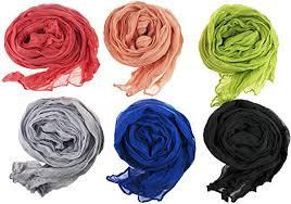 6pc Womens Crinkle Shawl Scarf Fashion Solid <b>Mixed Lot</b> Zakka ...