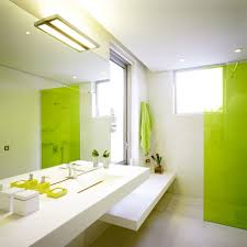 green bathroom design white color