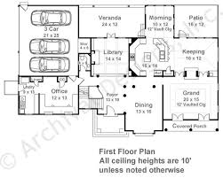 Dahlworth House Plans   Home Plans By Archival DesignsDahlworth House Plan   House Plan   Daylight Basement   First Floor Plan
