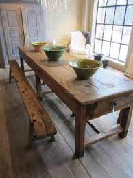 real rustic kitchen table long: rustic kitchen farmhouse table if you like this why not pin it for later and head on over to for more classic and country design inspiration