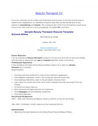 beauty therapist resume skills cipanewsletter beauty therapist cv template template