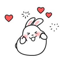 mochi <b>cute rabbit</b> – LINE stickers | LINE STORE