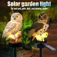 <b>Owl Solar Light</b> With <b>LED</b> Garden <b>Lights</b>