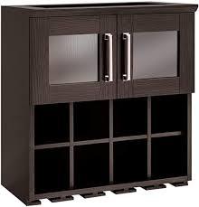 NewAge Products Home Bar Espresso Wall <b>Wine Rack</b> Cabinet - <b>21</b> ...