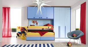 f breathtaking kids bedroom furniture loft bed with light blue color plywood wardrobe combine yellow mattress of twin bunk beds for inspiring kids boy breathtaking image boys bedroom