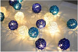 Battery Handmade Rattan Ball String Lights, 11.5ft 20 ... - Amazon.com