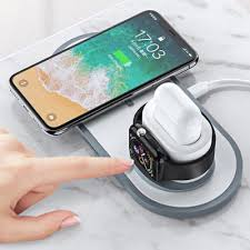 REMAX RP - W13 QI 3 in 1 Fast Charging Wireless Charger Base