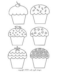 Small Picture Cupcake Coloring Page Embroidery Pattern Free prints