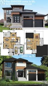 ideas about Modern House Plans on Pinterest   House plans    Architectural Designs Modern House Plan PM gives you over   square feet of living