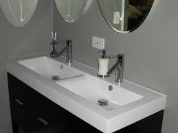 bathroom sinks double  bathroom vanity one sink two faucets double spouted faucet under sink