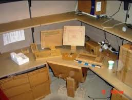 this cardboard office