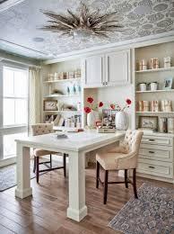 beautifulwhitehomeofficewithceilingartas beautiful white home office