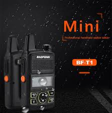100% <b>Original</b> BAOFENG BF T1 MINI Walkie Talkie UHF 400 ...