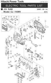 <b>Hitachi CJ110MV</b> Parts - Jig Saw