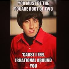 irrational square root howard meme big bang | Math FUNNY via Relatably.com