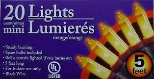 <b>New Halloween String</b> Mini <b>Lights</b> 5ft ~ Set of 2 Orange Free Shipping