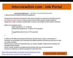 java interview question and answer what is encapsulation abstract java interview question and answer what is encapsulation abstract class