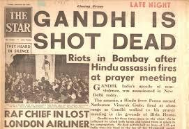 Image result for gandhi assassination