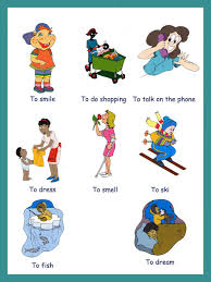verbs pictures to and print verbs for kids