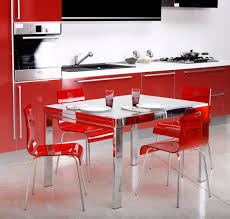 dining room table mirror top: l stunning four red acrylic armless chairs design with mirrored legs dining table with frosted glass top with modern dining room mirrors also hollywood