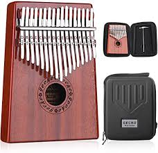 GECKO Kalimba <b>17 Keys Thumb</b> Piano with Waterproof Protective ...