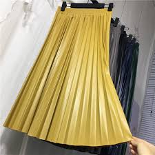 girls pleated skirt 2018 new autumn and winter new childrens big half length