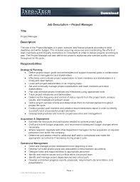 project manager job description   resumeseed com    project manager job description sample assistant project manager job description